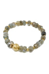 Elation Labradorite and Pearl Bracelet