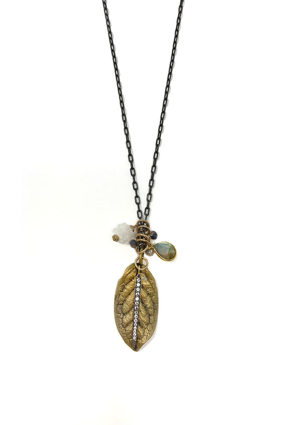 Flourish Leaf Charm Necklace