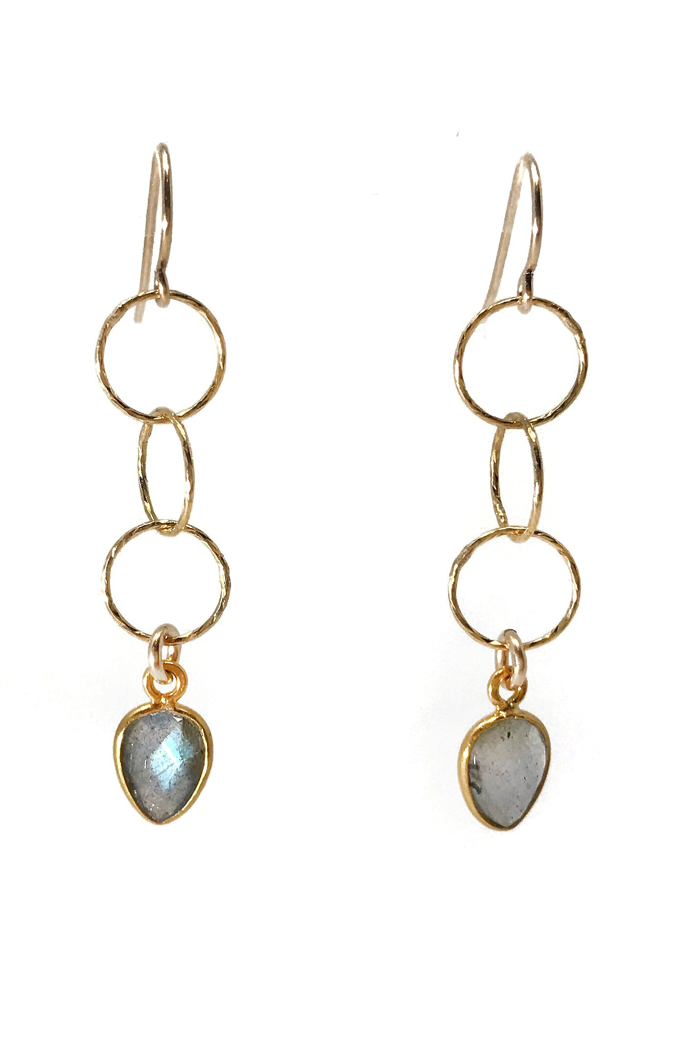 Longevity Labradorite Earrings