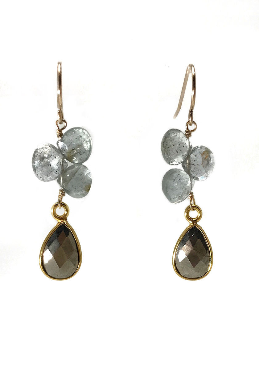 Arcadian Moss Aquamarine Earrings