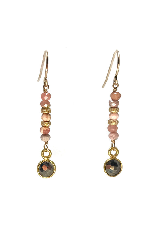 Gratitude Rhodochrosite Earrings