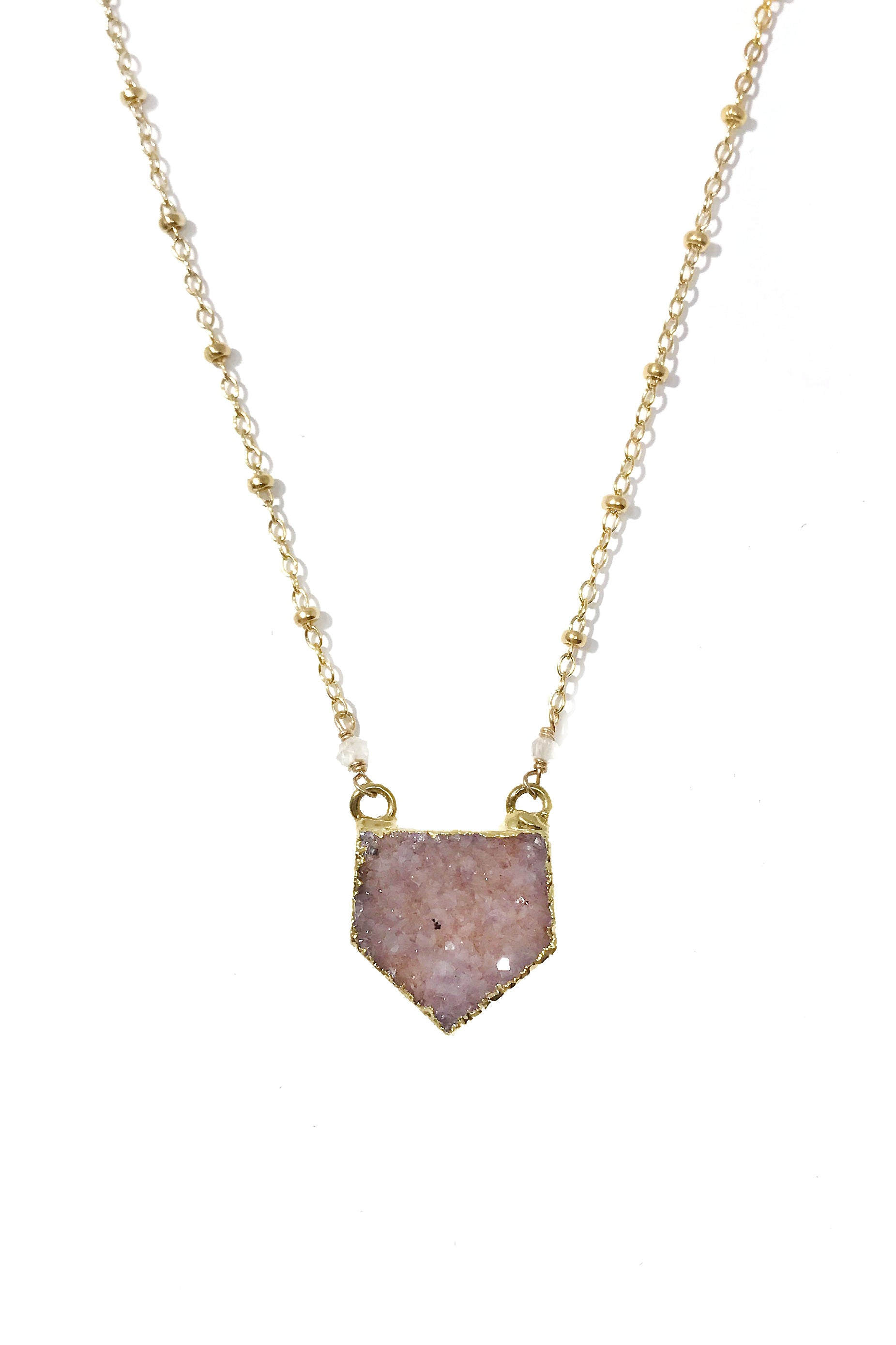 Every Moment Matters Druzy Necklace