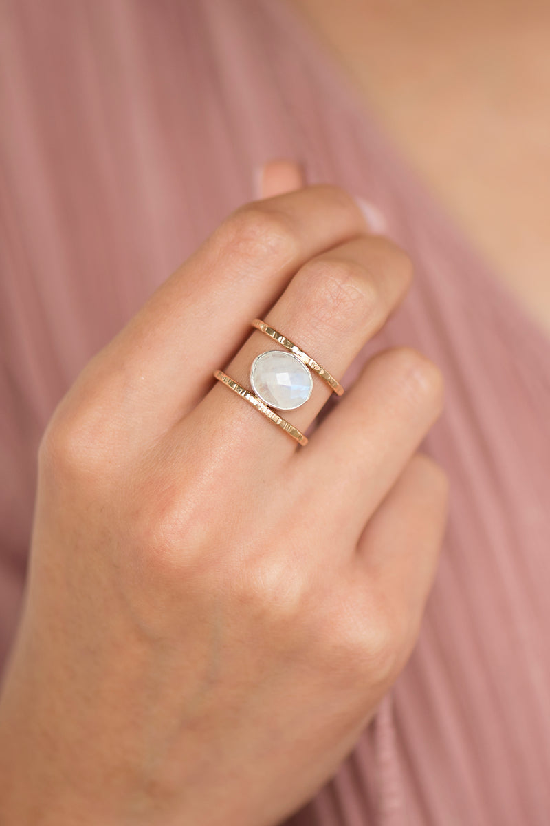 Moonstone Leor Ring
