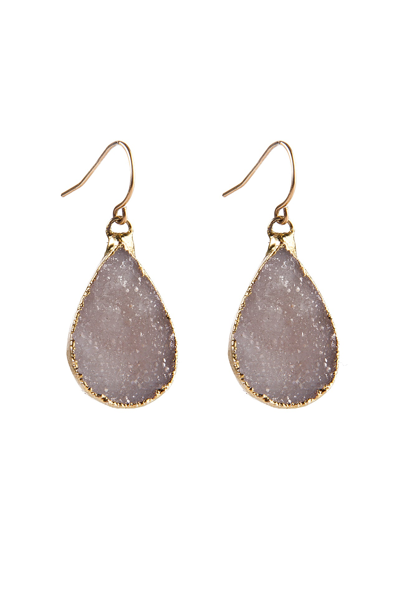 Druzy Teardrop Earrings
