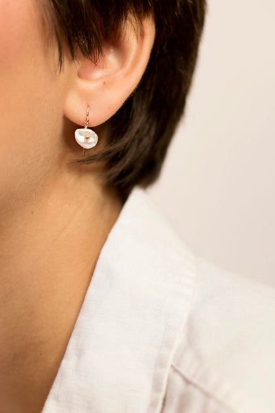 Petite Keshi Pearl Earrings