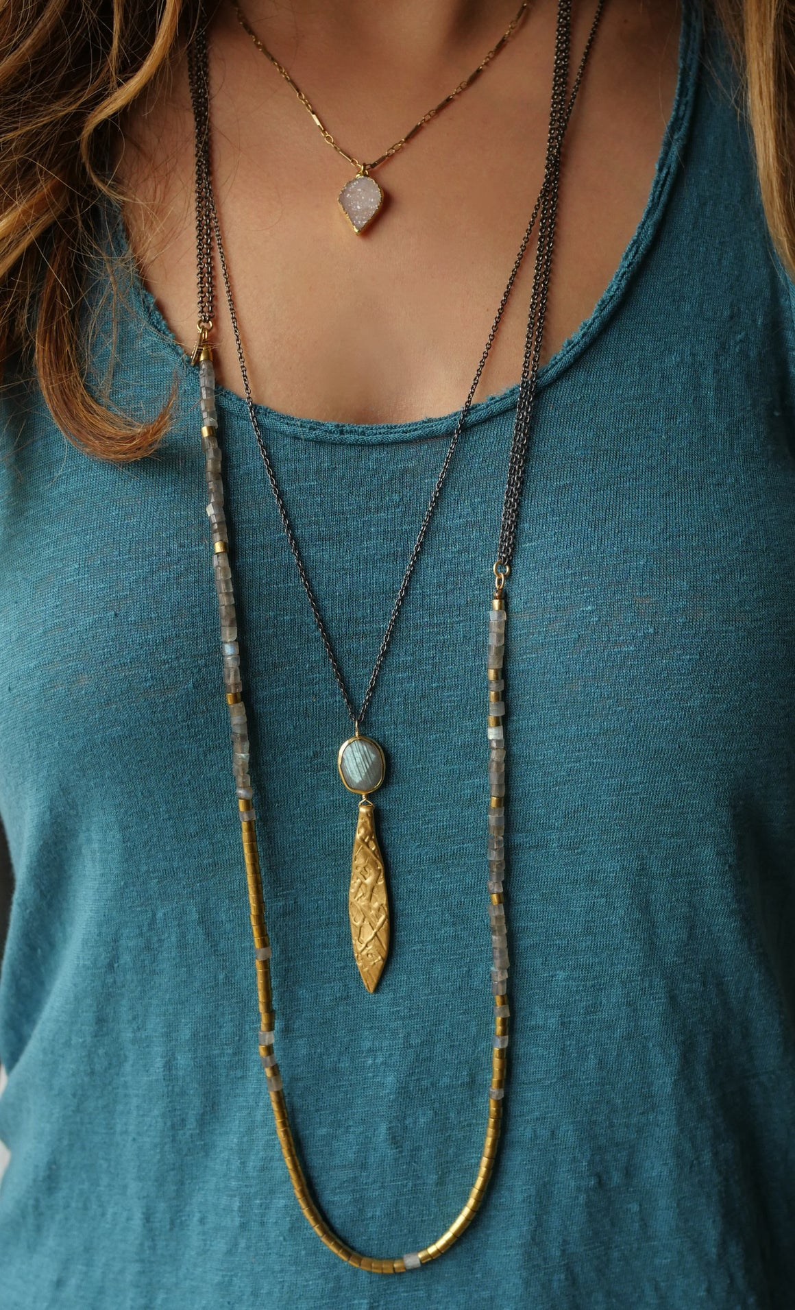 Labradorite Layering Necklace