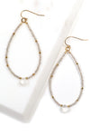 Labradorite and Moonstone Beaded Hoops