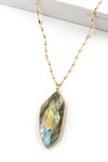 Large Palm Labradorite Necklace