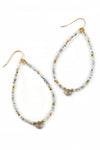Larimar Beaded Hoops