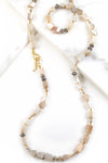 Peach Moonstone Statement Necklace