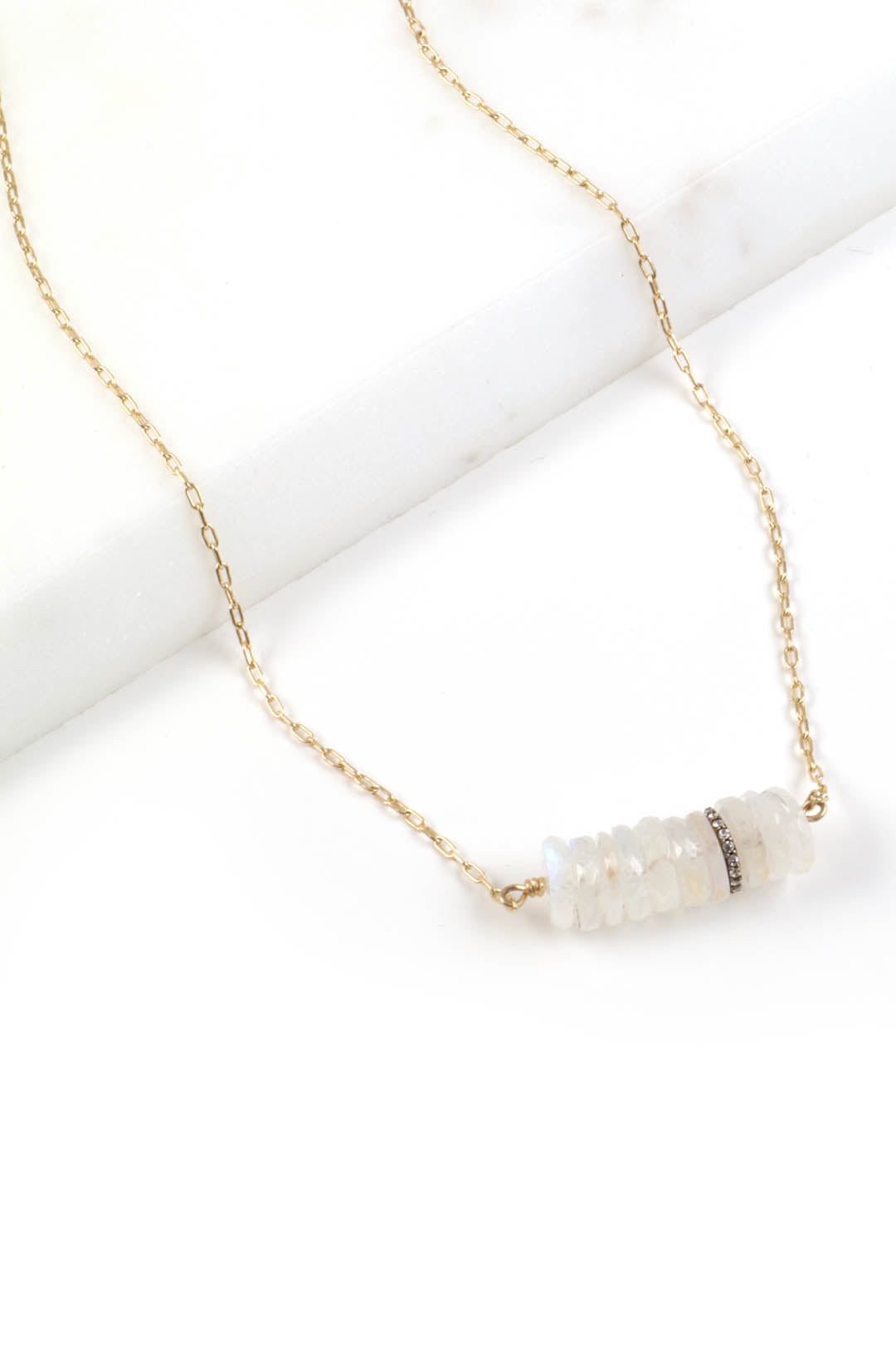 Rondelle Moonstone Necklace
