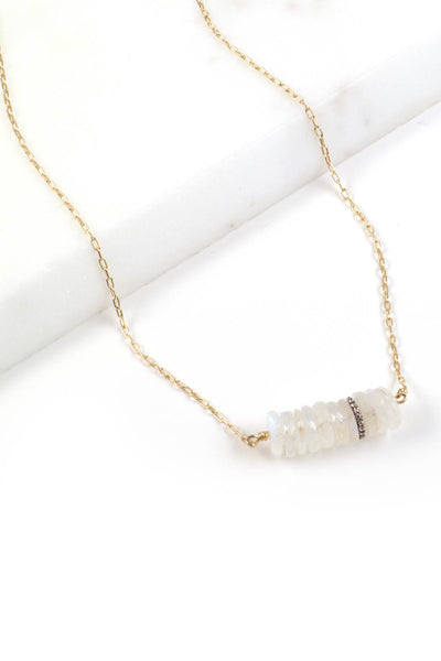 Moonstone Pavé Necklace