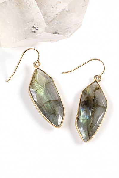 Labradorite Palm Earrings