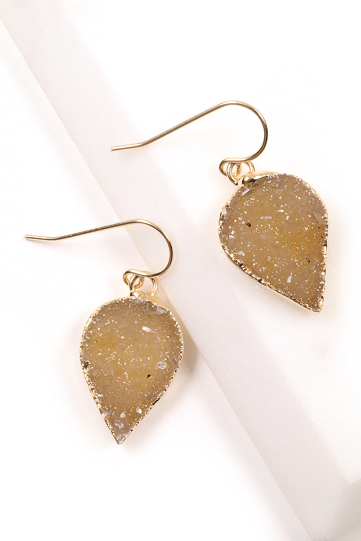 Petal Druzy Earrings