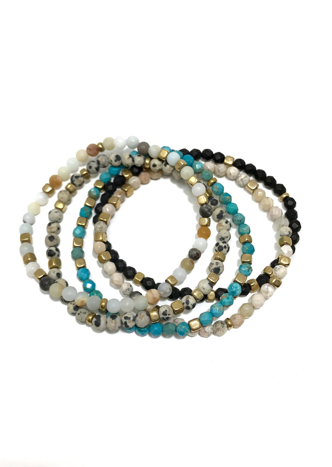 Faceted Gemstone Stretch Bracelet {more colors!}