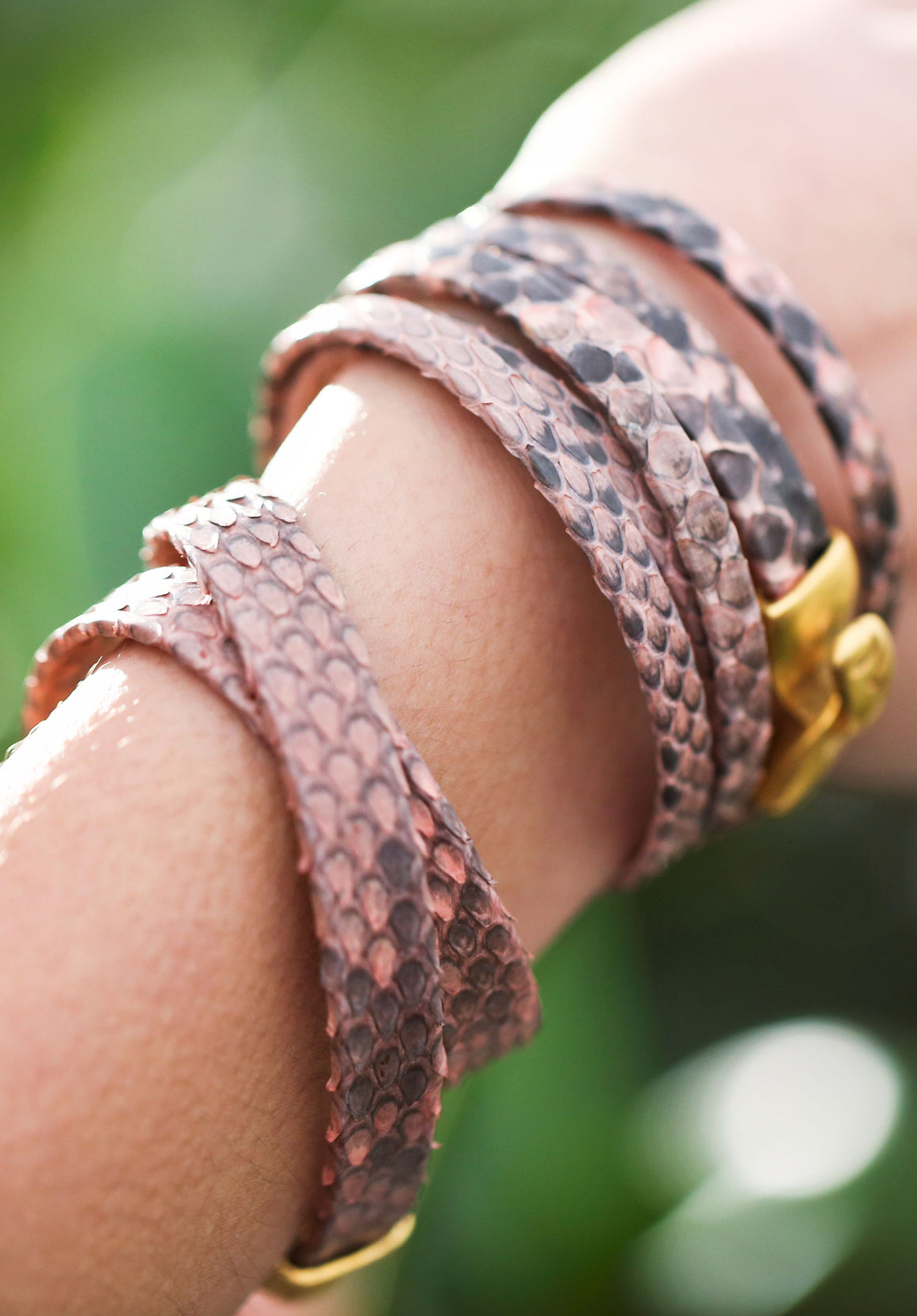 Python Wrap Bracelet in Rose