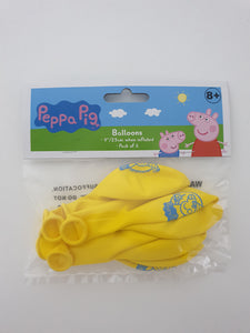 Peppa Pig Balloons - pack of 6