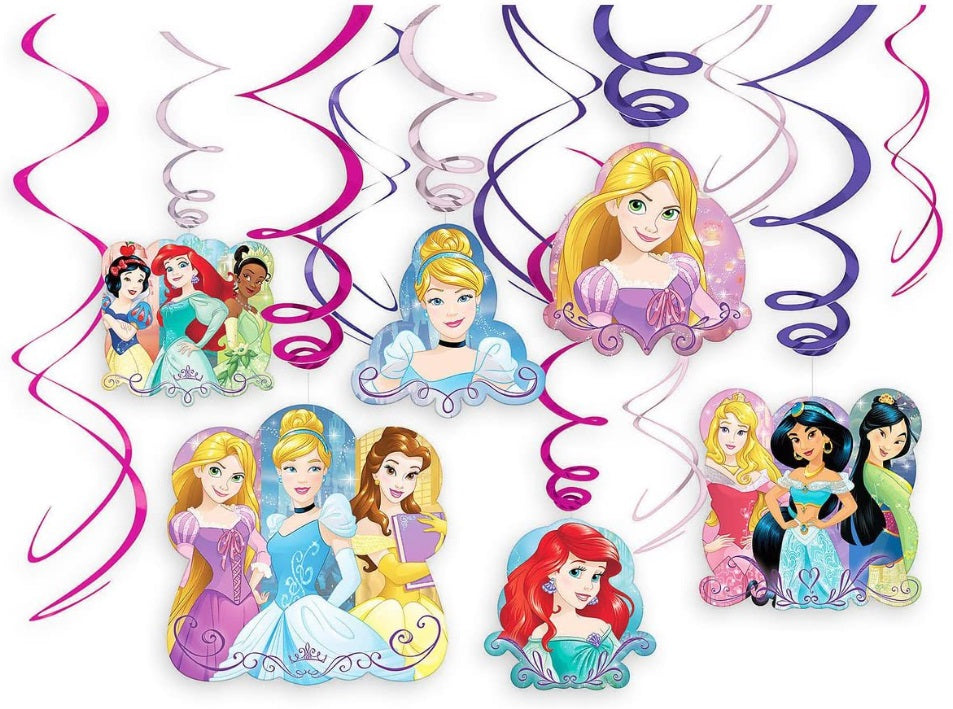 Disney Princess Swirl Decorations