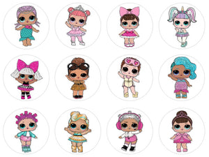 LOL Dolls Cupcake Toppers