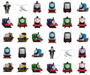30 Thomas the Tank Engine Cupcake Toppers pre-cut 3.5cm
