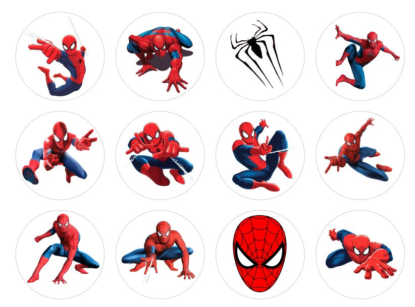 Spider Man Cupcake Toppers