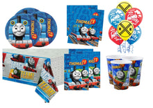 Load image into Gallery viewer, Thomas the Tank Engine Party Supplies Tableware for 8 Guests