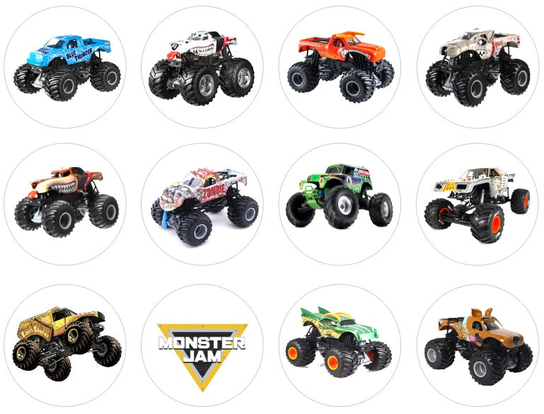 Monster Trucks Cupcake Toppers