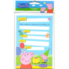 Load image into Gallery viewer, Peppa Pig Party Invitations