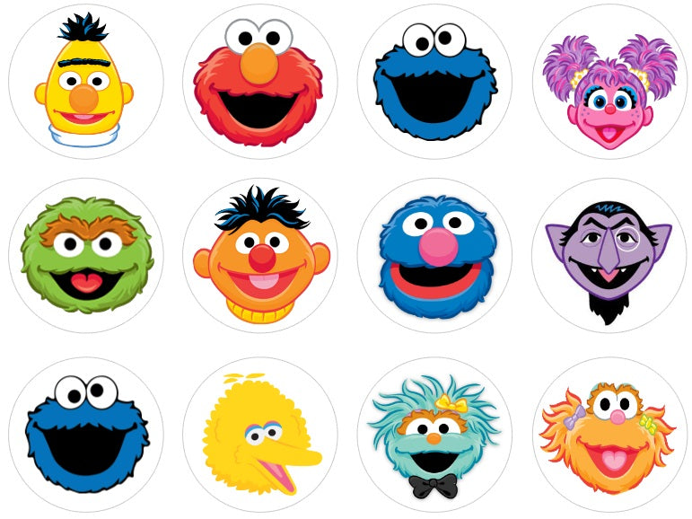Sesame Street Cupcake Toppers