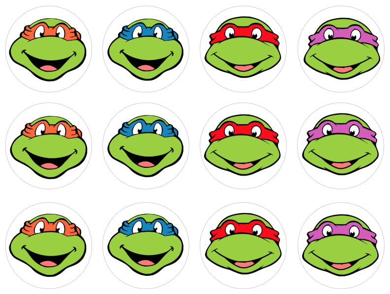 Teenage Mutant Ninja Turtles Cupcake Toppers