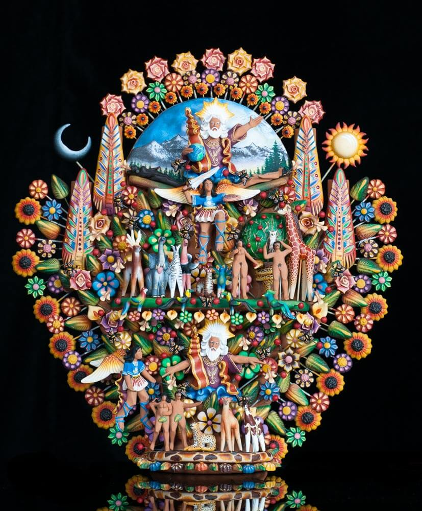 Mexican Tree of Life Genesis Theme Adam Eve