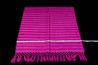 Fucsia cotton rebozo shawl from Oaxaca Mexico