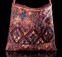 Wool Bag Backstrap loomed Indigenous textile from Chiapas, Mexico