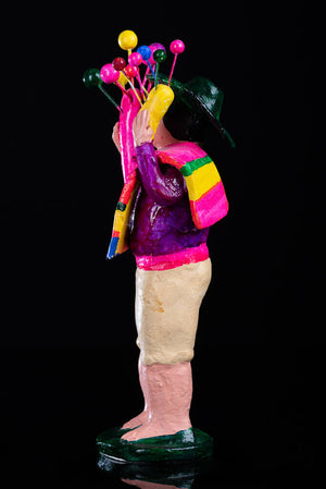 Balloon Seller Clay Figure by Alfonso Soteno side