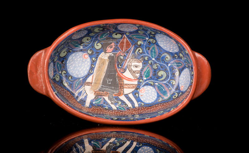 Tonala-Pottery-Dish-by-Burnished-Clay-Artist-Salvador-Vasquez