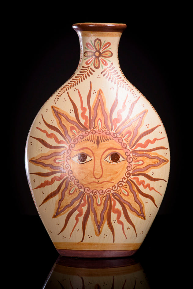 Burnished-clay-canelo-vase-with-sun-and-moon-from-Jalisco-Mexico