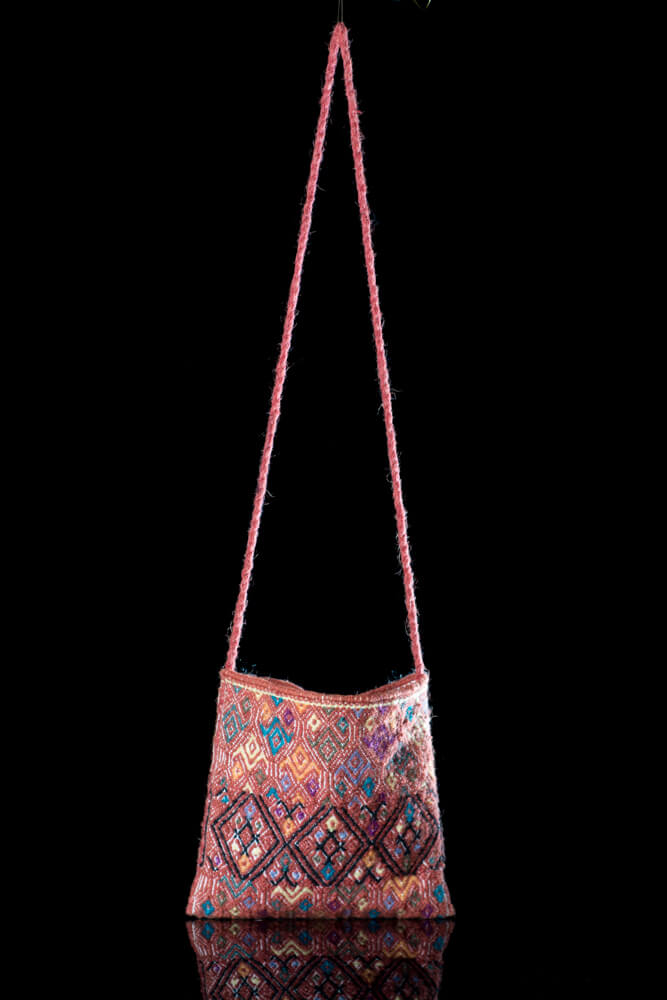 Mexica Wool Bag with Diamods From Chiapas