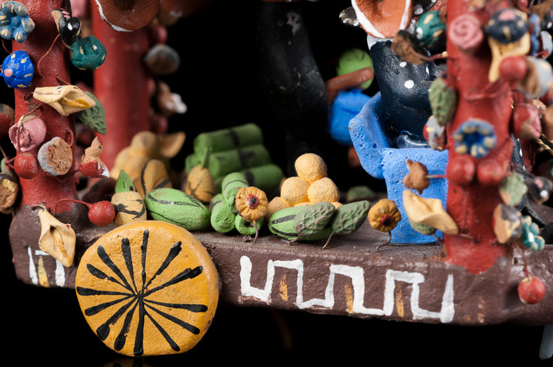 Clay fruit sellers from Michoacan Mexico