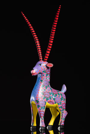 Gazelle Alebrije wood carving by Alberto Jimenez
