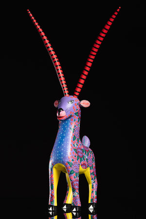 Gazelle alebrije by Alberto Jimenez Oaxacan wood carving