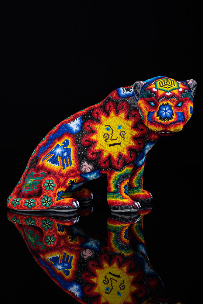 Huichol-Beaded-Jaguar-with-Sacred-Symbols-Crafted-by-Mexican-Indian