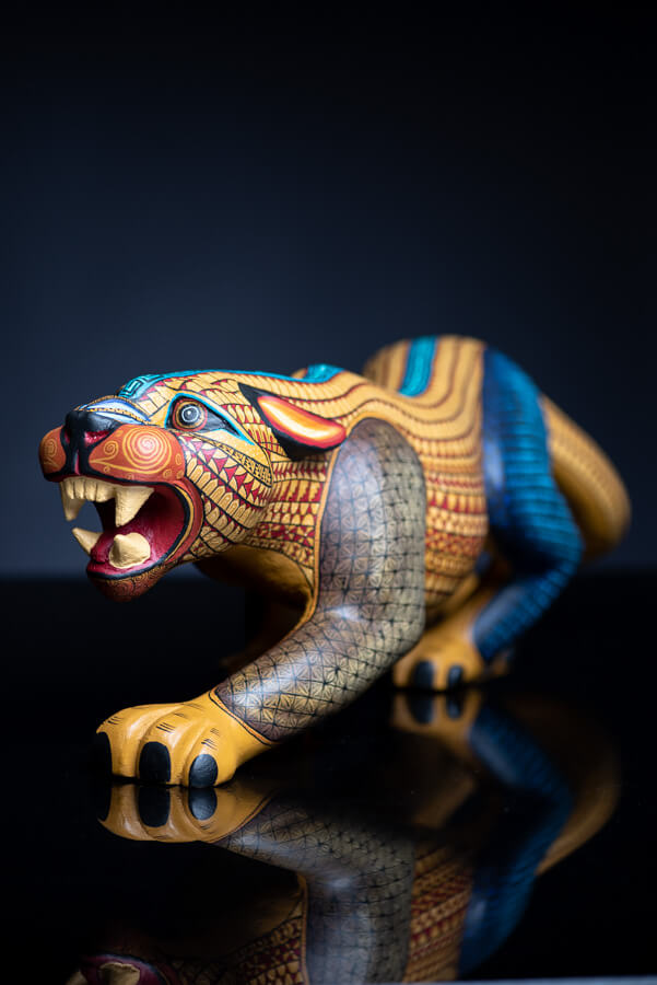 Jaguar Alebrije Oaxacan Wood Carving  Mexican Folk Art