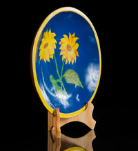 Maque Lacquered Wood Batea flowers blue yellow