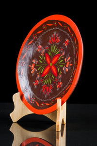 Maque Lacquered Wood Batea red Michoacan