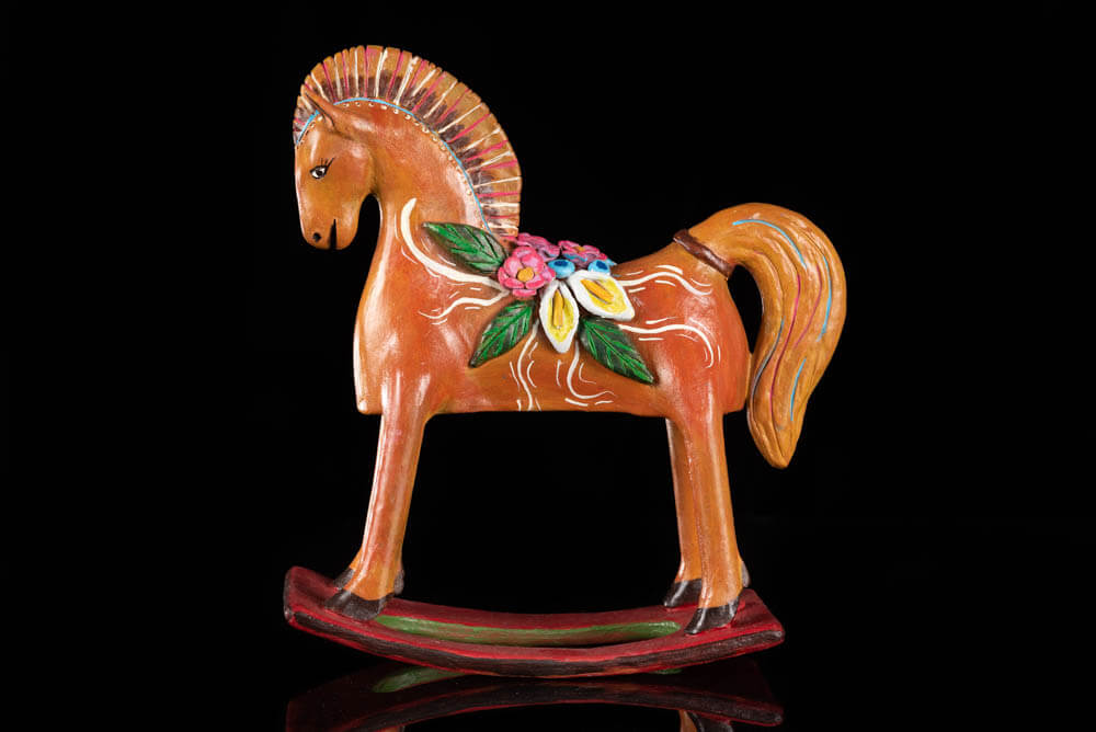 Mexican Clay horse by Juan Torres