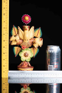 Mexican Clay Cross with doves & Holly Spirit, Water Fountain for Wall Hanging Rulers
