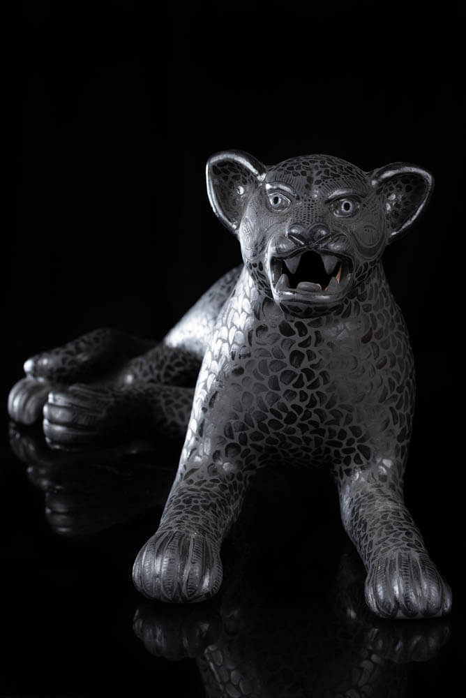 Mexican Clay Jaguar from Amatenango Chiapas Fine Pottery Piece