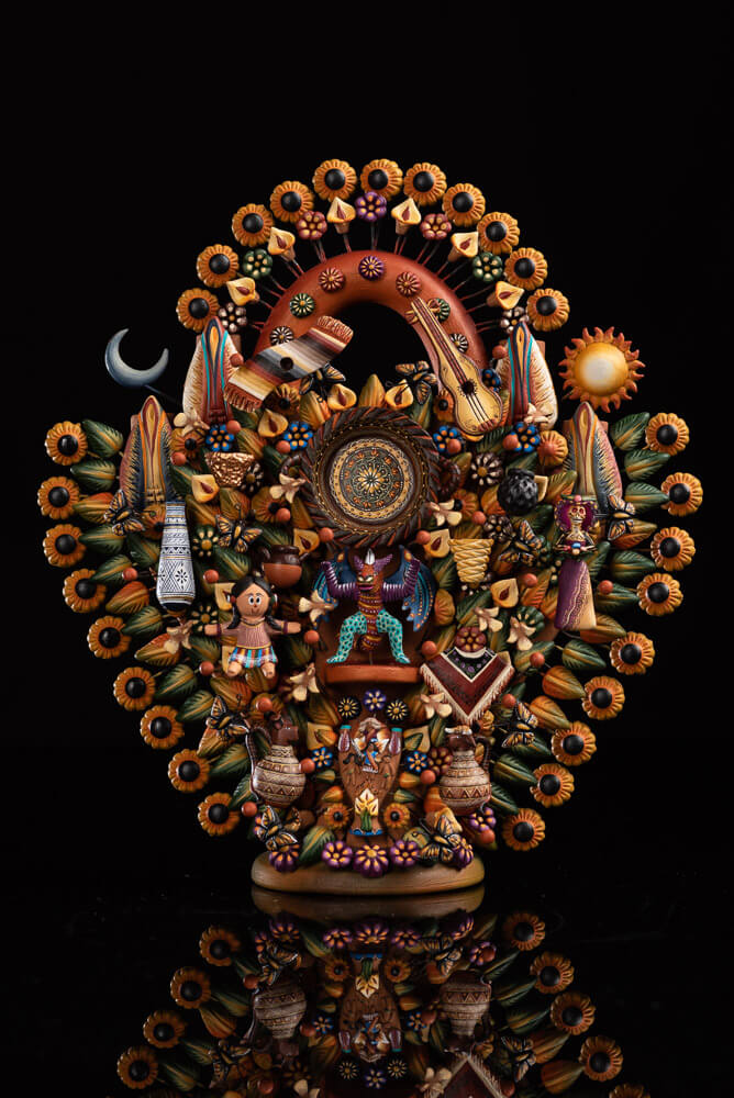 Mexican-Folk-Art-Tree-of-Life-Metepec-Pottery
