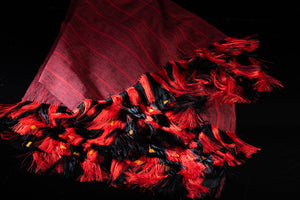 Black & Red Shawl Fine Mexican Indigenous Textile