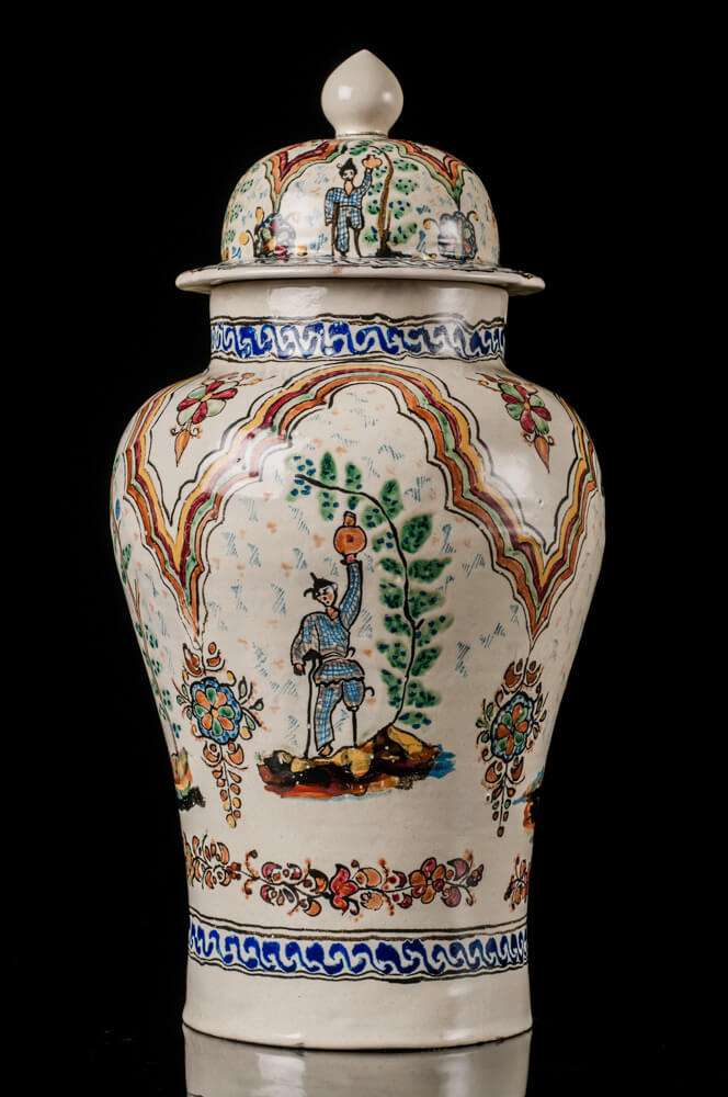 Mexican Talavera Tibor Vintage Design Man With jar